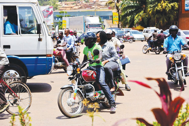 What strikes first time visitors as special or unusual when they arrive in Kampala, Uganda?